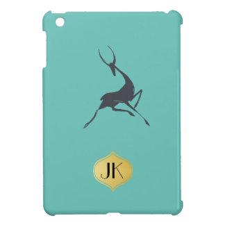 Playfully Elegant Hand Drawn Grey Gazelle iPad Mini Cases