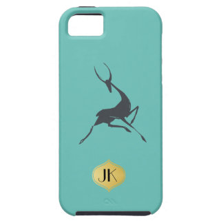 Playfully Elegant Hand Drawn Grey Gazelle iPhone 5 Cases