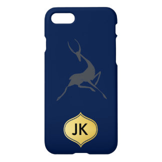 Playfully Elegant Hand Drawn Grey Gazelle iPhone 7 Case