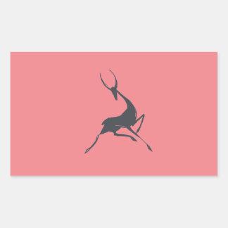 Playfully Elegant Hand Drawn Grey Gazelle Sticker