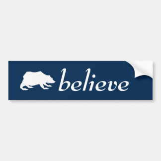 Playfully Elegant Hand Drawn White Actionable Bear Bumper Sticker