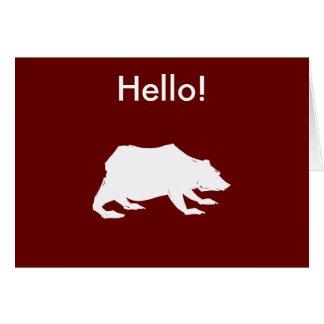 Playfully Elegant Hand Drawn White Actionable Bear Card
