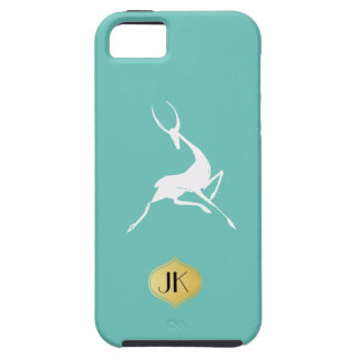 Playfully Elegant Hand Drawn White Gazelle Case For The iPhone 5