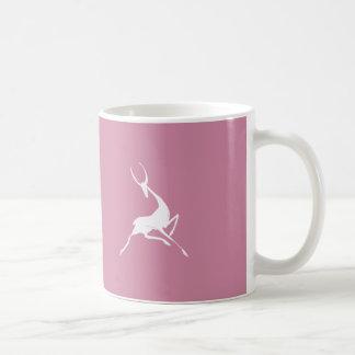 Playfully Elegant Hand Drawn White Gazelle Coffee Mug