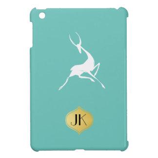 Playfully Elegant Hand Drawn White Gazelle iPad Mini Cases