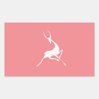 Playfully Elegant Hand Drawn White Gazelle Sticker