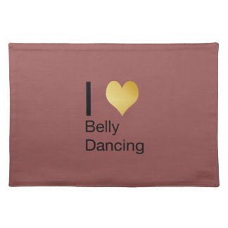 Playfully Elegant I Heart Belly Dancing Placemats