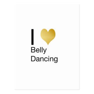 Playfully Elegant I Heart Belly Dancing Postcard