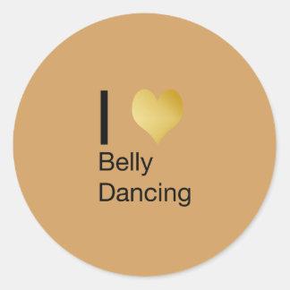 Playfully Elegant I Heart Belly Dancing Round Sticker