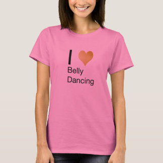 Playfully Elegant I Heart Belly Dancing T-Shirt