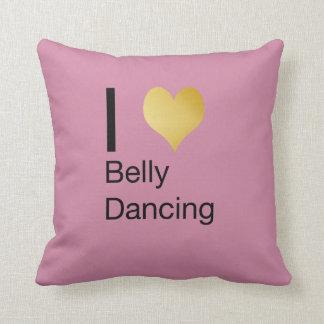 Playfully Elegant I Heart Belly Dancing Throw Pillow