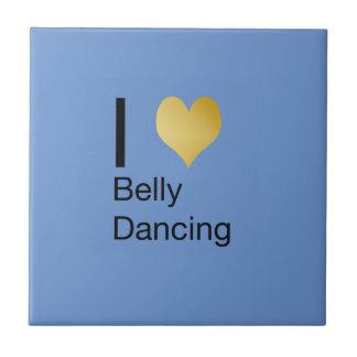 Playfully Elegant I Heart Belly Dancing Tile