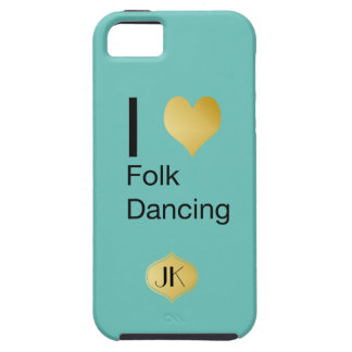 Playfully Elegant I Heart Folk Dancing iPhone 5 Case