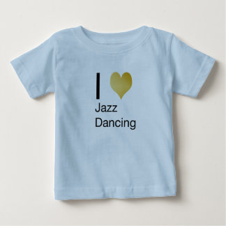 Playfully Elegant I Heart Jazz Dancing Baby T-Shirt
