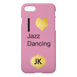 Playfully Elegant I Heart Jazz Dancing iPhone 7 Case
