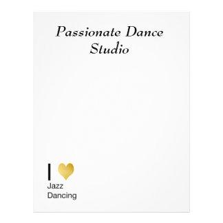 Playfully Elegant I Heart Jazz Dancing Letterhead