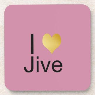 Playfully Elegant I Heart Jive Coaster