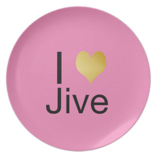 Playfully Elegant I Heart Jive Party Plate