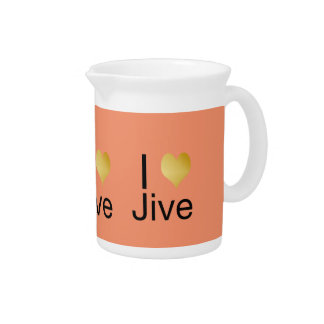 Playfully Elegant I Heart Jive Pitcher