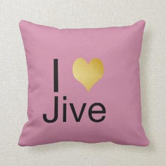 Playfully Elegant I Heart Jive Throw Pillow
