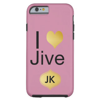 Playfully Elegant I Heart Jive Tough iPhone 6 Case