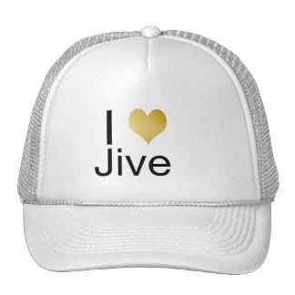 Playfully Elegant I Heart Jive Trucker Hat