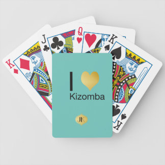 Playfully Elegant I Heart Kizomba Bicycle Playing Cards