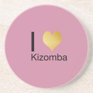 Playfully Elegant I Heart Kizomba Coaster