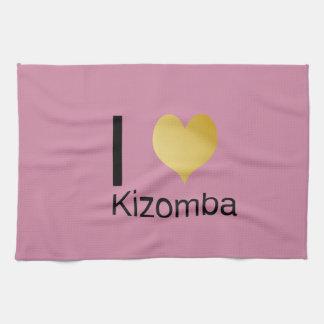 Playfully Elegant I Heart Kizomba Kitchen Towels