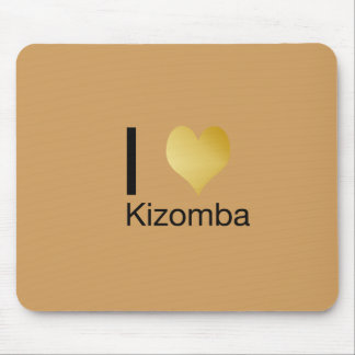 Playfully Elegant I Heart Kizomba Mouse Pad