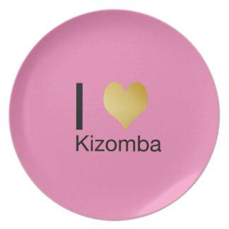 Playfully Elegant I Heart Kizomba Party Plate