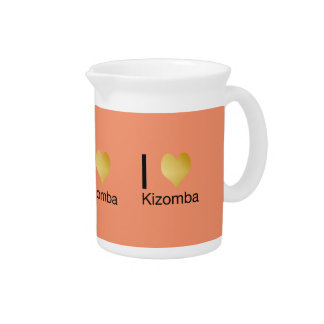 Playfully Elegant I Heart Kizomba Pitcher