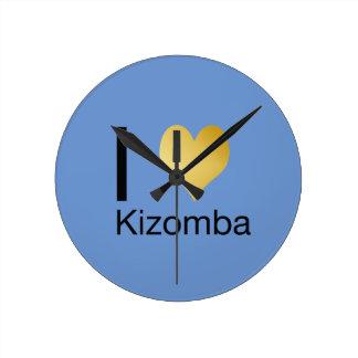 Playfully Elegant I Heart Kizomba Round Clock