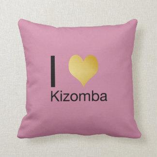 Playfully Elegant I Heart Kizomba Throw Pillow