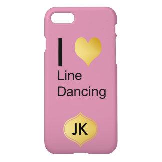 Playfully Elegant  I Heart Line Dancing iPhone 8/7 Case