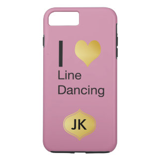 Playfully Elegant I Heart Line Dancing iPhone 8 Plus/7 Plus Case