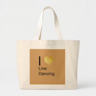 Playfully Elegant  I Heart Line Dancing Large Tote Bag