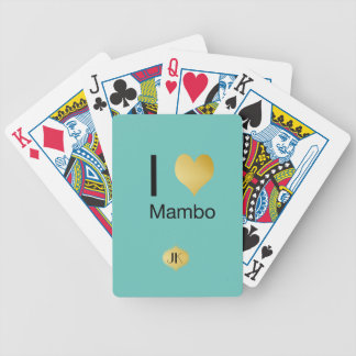 Playfully Elegant I Heart Mambo Bicycle Playing Cards