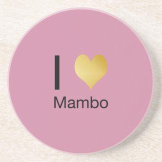 Playfully Elegant I Heart Mambo Coaster
