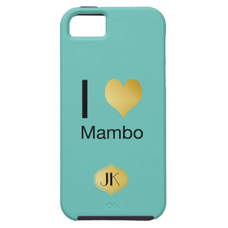 Playfully Elegant I Heart Mambo iPhone 5 Case