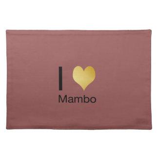 Playfully Elegant I Heart Mambo Place Mat