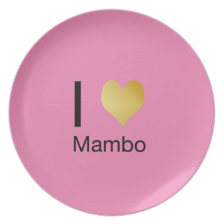 Playfully Elegant I Heart Mambo Plate