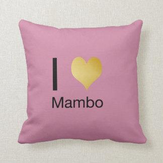 Playfully Elegant I Heart Mambo Throw Pillow