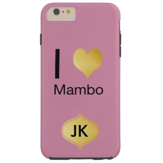 Playfully Elegant I Heart Mambo Tough iPhone 6 Plus Case