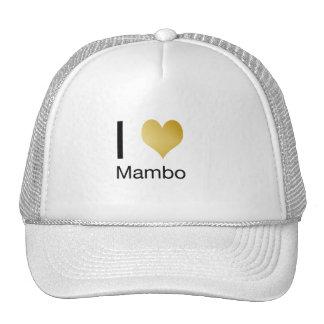 Playfully Elegant I Heart Mambo Trucker Hat