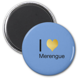 Playfully Elegant I Heart Merengue 2 Inch Round Magnet