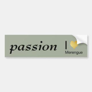 Playfully Elegant I Heart Merengue Bumper Sticker