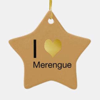 Playfully Elegant I Heart Merengue Ceramic Ornament