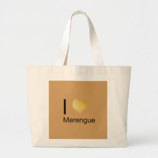 Playfully Elegant I Heart Merengue Large Tote Bag