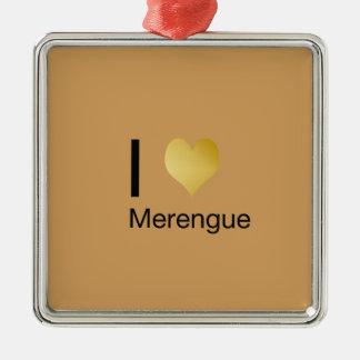 Playfully Elegant I Heart Merengue Metal Ornament